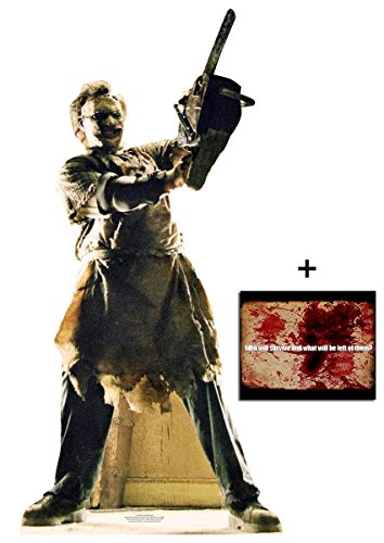Für Party Die Texas Dekorationen (Leatherface Texas Chainsaw Massacre Lebensgrosse Pappaufsteller - mit 25cm x 20cm foto)