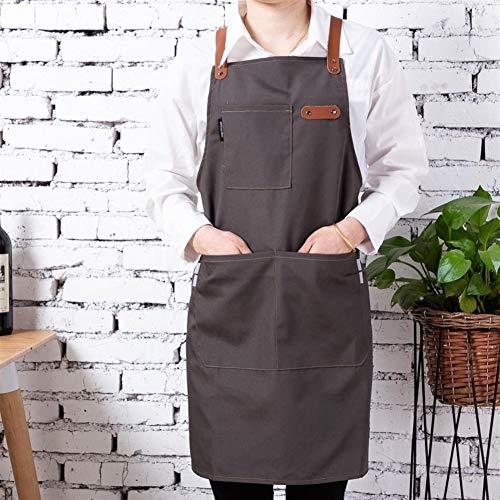 YWCXMY-LDL Neue Art und Weise justierbares Leder, das Küchen-Schutzblech-Grill-Friseur-Schutzblech-Schellfisch-Overall kocht (Color : AA04, Size : OneSize) -
