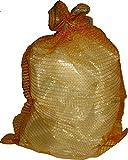 100 Stück Raschelsäcke 51cm x 80cm Kartoffelsack Gemüsesack Zwiebelsack Sack
