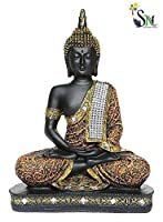 Idols of Buddha are believed to brings success and prosperity at home. This beautiful Meditating Buddha showpiece figurine from Om arts is a wonderful gifting option for your best friend on her housewarming party. Ideal to keep in your puja room or l...
