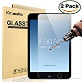 "[2 Pack] iPad Air / iPad Air 2 / Pro 9.7"" Screen Protector, Emmabin 0.26mm 9H Tempered Glass Screen Protector for Apple iPad Air (iPad 5)/ iPad Air 2 (iPad 6) / iPad Pro"