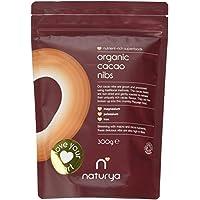 Naturya | Organic Peruvian Cacao/Cocoa Nibs 300g | Packed with Flavanols, Potassium, Magnesium & Iron | Certified Organic, Vegan, Gluten-Free & Kosher