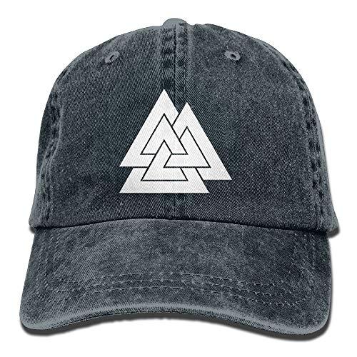 Naiyin Valknut Viking Age Symbol Norse Warrior Unisex Adult Adjustable Retro Dad Hats