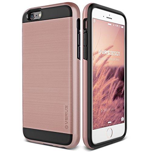 Cover iPhone 6S Plus, VRS Design [Verge Series][Oro Rosa] - [Metallo Spazzolato] [Struttura Resistente] [Massima (Gps Carta Pocket Pc)