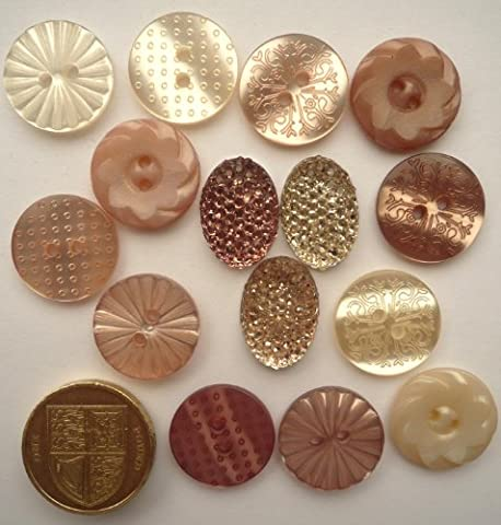 Au Jardin Whisper - Antique Style - Novelty Craft Buttons & Embellishments by Dress It Up