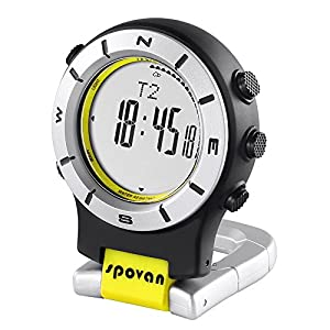 Lixada Smart Watch LED Clip Watch Sports Watches Fishing Hiking Climbing Pocket Watch Altimeter Barometer Compass.