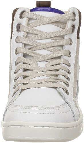 Calvin Klein Jeans Phillpe Action Leather/Patent, Baskets mode homme Blanc (Ibo)