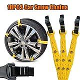 SHIOUCY 10 Pezzi Catene da Neve, Catene da Neve per Auto Pneumatici per Auto Catene da Neve Pneumatici