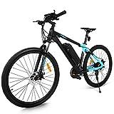 Profun Vélo de Montagne électrique 27.5/26 Pouces 350W/250W avec Shimano 24/21 Vitesse E-VTT avec Batterie au Lithium Amovible 36 V 10.4Ah/36V 8Ah pour Hommes Femmes (27.5'' bleu)