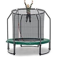 Ampel 24 Deluxe Outdoor Trampolin 244 cm komplett mit innenliegendem Netz | Sicherheitsnetz mit Stabilitätsring | Gartentrampolin mit mehr Sicherheit | Belastbarkeit 120 kg