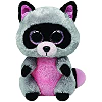 Ty - Peluche mapache, 15 cm, color gris (United Labels 36727TY)