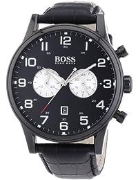 Hugo Boss Herren-Armbanduhr Analog Quarz Leder 1512920