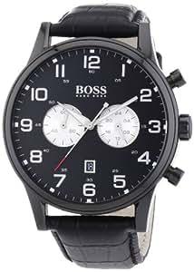 Hugo Boss Herren-Armbanduhr XL Analog Quarz Leder 1512920