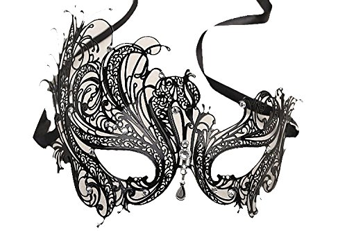 Venezianische Venetianische Maske #4 Metall metal sehr hochwertige Stabile Maske Maskerade Karneval Fasching Verkleidung Kostüm Halloween Party Maskenball Ball Shades of Grey Mr Grey Mitternacht