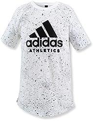 adidas Yb Printed Tee Camiseta, Niños, Blanco (Blanco / Negro), 152