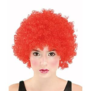 Super Curly Red Colour Afro/Clown Wig For Fancy Dress Parties/Halloween (Wig)