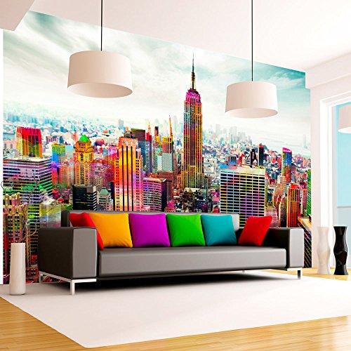 murando – Papier peint intissé 250x175 cm – Trompe l oeil - Tableaux muraux – Déco – XXL Ville New York 10110904-45