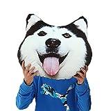 Mkono manta decorativa almohada 3d efecto Akita Husky Doge Perro Cabeza Cosplay de dibujos animados sofá manta almohada coche cojín Nap almohada cojín del asiento, Lovely Cate juguete de peluche