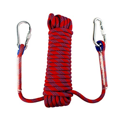 Yolyoo Outdoor Climbing Rope Static Rock Climbing Equipment High Strength Accessory Fire Escape Safety Rappelling Rope 32ft