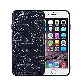 FACEVER Funda para iPhone 6, Fórmulas de Química y matemática, Fina y Divertida, Fundas Finas sin Huellas Digitales para iPhone 6 6S -Matemática