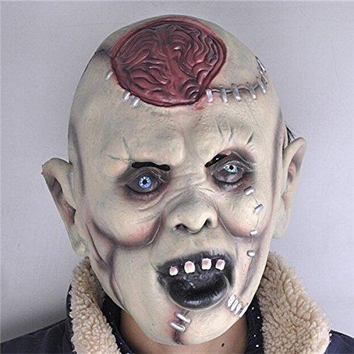 mark8shop Halloween Party Kostüm Maske erschrecken Erwachsene Head Horror Kopfbedeckung Latex Gummi