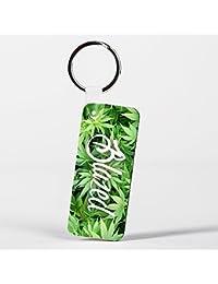 Blazed Design Funny Weed Marijuana Green Llavero