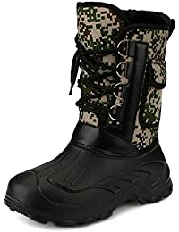 Sibba Thermostiefel mit Oxfordgewebe und abziehbares Innenfutter für Herren , als wasserdichte Schneestiefel und Outdoor Schuhe