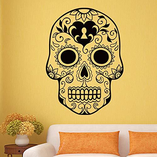 Jixiaosheng Halloween Skelett Hintergrund Dekoriert Wohnzimmer SchlafzimmerWandaufkleber 78 * 57 Cm (Tierische Skelette Halloween Für)