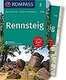 Rennsteig: Wanderführer mit Extra-Tourenkarte 1:50.000, 9 Etappen, GPX-Daten zum Download: Wandelgids met overzichtskaart (KOMPASS-Wanderführer, Band 5258)