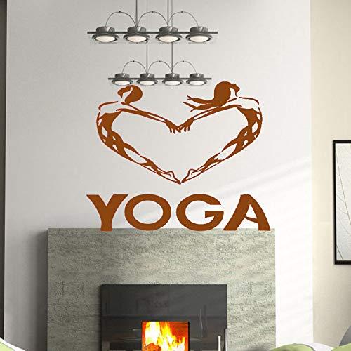 guijiumai Dctal Herz Buddha Zitate Namaste Wandtattoos Yoga Mandala Wandaufkleber Wohnzimmer DIY Wohnkultur Yoga Dekoration 3 58x72 cm -