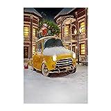 ODJOY-FAN Weihnachten 3D Fotografie, Weihnachten Dekoration Hintergrund Photography Background Fotostudio 3D Studio Hintergrund Laterne Landschaft Stoff (90x150cm) (E,1 PC)