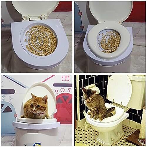 regalos kawaii gato Ducomi® Bobo–Training Kit para adiestramiento Gatos–Adiestra el gato al uso la toilette