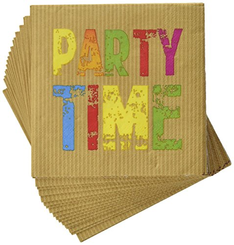Paperproducts Design Design Party Time Papier Getränk, Cocktail Serviette, 5 durch 12,7 cm (Servietten Cocktail Kraft,)