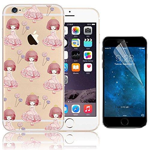 iPhone SE Case, Bonice iPhone 5S Custodia, Trasparente Ultra Slim Thin Morbido Crystal Clear Cover + 1x Protezione Schermo Screen – ghiacciolo Model 10