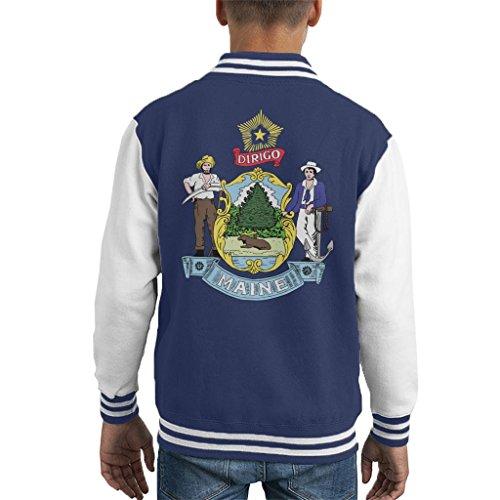 Coto7 Maine State Flag Kid's Varsity Jacket