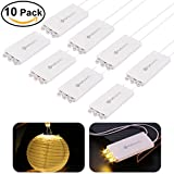 YUNLIGHTS 10 Pack Warm Weiß LED Ballon Lichter mit 3