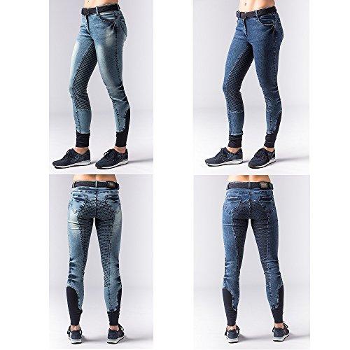Modische Jeans Reithose mit rundgenähter Sitzfläche und Silikonaufdruck Auswahl