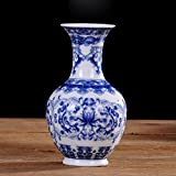 NOWAYTOSTART Jingdezhen Vase en Porcelaine Bleue et Blanche, Vase Chinois Vase Vintage décoration Vase Maison, Bureau, Mariage, décoration idéal Parti