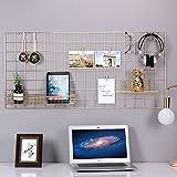 Details: Wonderful Decoration: Tolle Art, Bilder zu organisieren und zu zeigen, Spaß und einzigartige Art, Ihr Büro, Zuhause oder Wohnheim zu beleben.Was Sie bekommen: 1 x Gittermetallplatte, 4 x Nägel, 10 x Holzklammern.