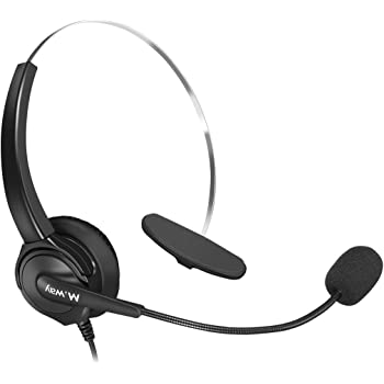8d16939998d Binaural Crystal Head jack Headset, M.Way Hands-Free Noise Cancelling  Binaural Headset Headphones with Mic, Microphone, Comfort Fit Headband Call  Center ...