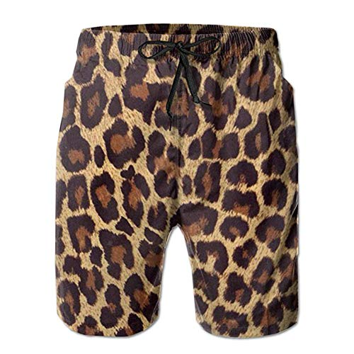 BagsPillow Mens Swim Trunks Summer 3D Print Cool Cheetah Leopard Graphic Casual Athletic Swimming Short