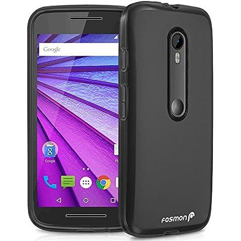 Motorola Moto G (3ª generación) 2015 funda - Fosmon [DURA-FRO] (Slim Fit) flexible TPU Cubierta de Carcasa de para Motorola Moto G (3rd Gen, 2015) - Fosmon Empaquetado (Negro)