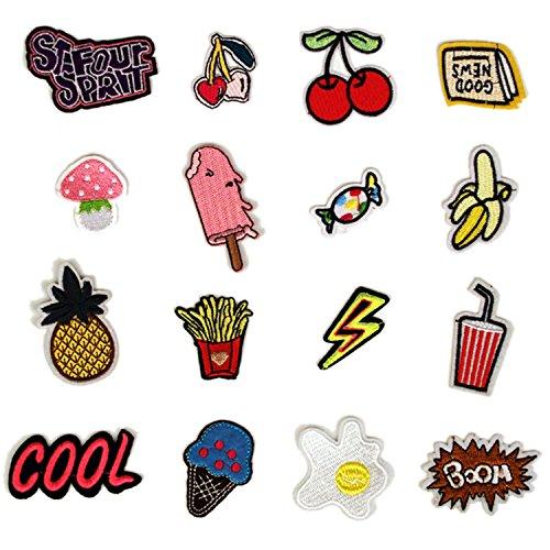 set-16-pcs-funny-cute-diy-clothes-patches-stickers-cartoon-cherry-banana-mushroom-patches-for-t-shir