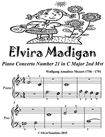 Elvira Madigan Beginner Piano Sheet Music Tadpole Edition eBook