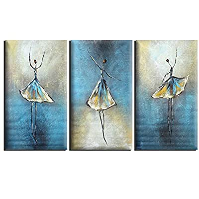 100% Hand-Painted Oil Paintings Ballet Dancer Girls on Canvas ( No Frame ) produced by paintyourworld - quick delivery from UK.
