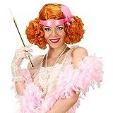 Amakando Charleston Perücke 20er Jahre Haare rot Retro Damenperücke Kupfer Lockenperücke Can Can Showgirl Burlesque Locken Faschingsperücke Flapper Kunsthaar