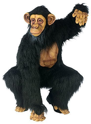 chimpanse Affe Gorilla Junggesellenabschied Tier Kostüm Kleid Outfit (Affen Outfits)