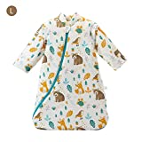 Unbekannt PER Newborn Baby Schlafsack mit Ärmeln infantile Pellets Thermische Schlaf Kleidung für Babys