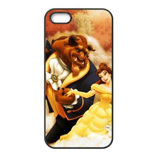 "Fine pour apple iPhone 5/5S motif ""disney beauty and the beast gütersloher housse de protection shopkeeper étui de protection pour apple iPhone 5/5S"