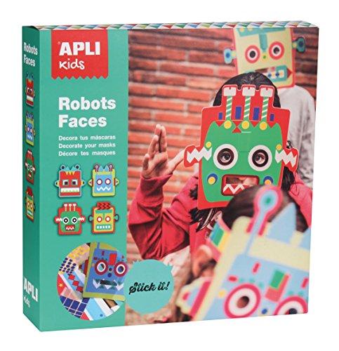 Kostüm Roboter Ideen (Apli Kids Dekorative Roboter-Maske, Einheitsgröße, mehrfarbig,)